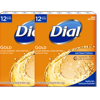 (Pack of 2) Dial Antibacterial Deodorant Bar Soap, Gold, 4 Ounce, 12 Bars