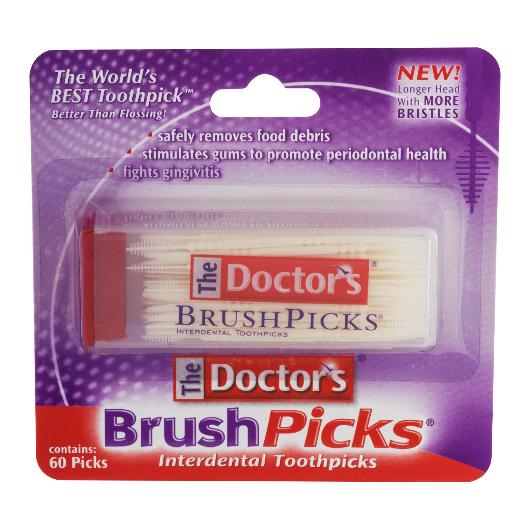 The Doctor's Brush Picks Interdental Toothpics - 60 CT60.0 CT