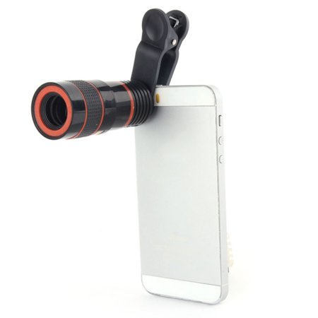 8x HD Clip Lens, Mobile Phone Optical Photo Zoom Camera, Photography