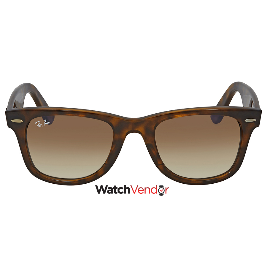 e25c8c7d2d Ray Ban Wayfarer Ease Light Brown Gradient Square Sunglasses RB4340 710 51  50