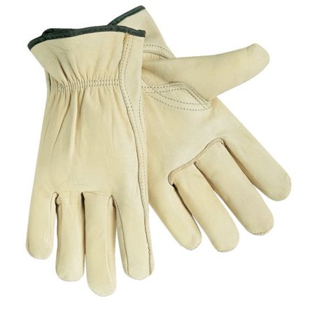 3211-L Industrial Grade Grain Leather Driver Glove with Keystone Thumb, Size Large, Sold by the Pair, Select Grade Grain Cowhide By Memphis