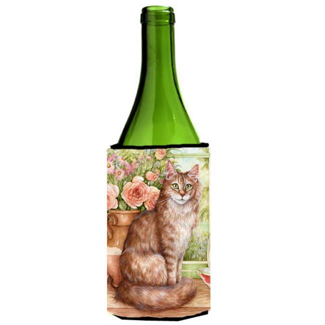 Maine Coon Cat by Debbie Cook Wine Bottle Can cooler Hugger