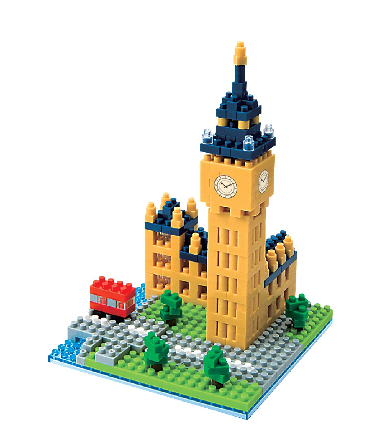 Big Ben, Over 530 assorted size and colored pieces By Nanoblock by