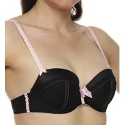Jezebel 24174 Indulge Woven Satin with Lace Trim Push-up Bra