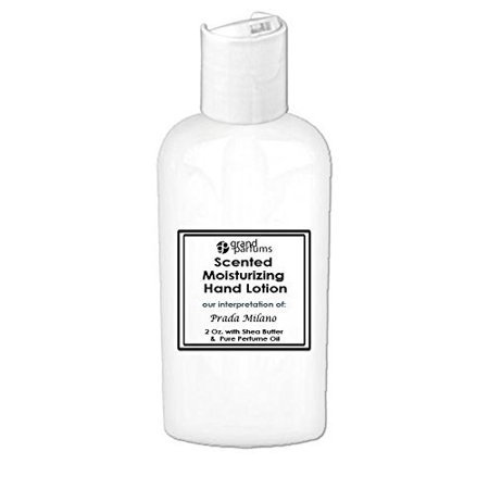 53ba4bb8f56a Grand Parfums 2 Oz Moisturizing Hand Lotion with Shea Butter (Prada Milano)  Scented Hand Cream Spa Product, Travel Size Paraben Free - Walmart.com
