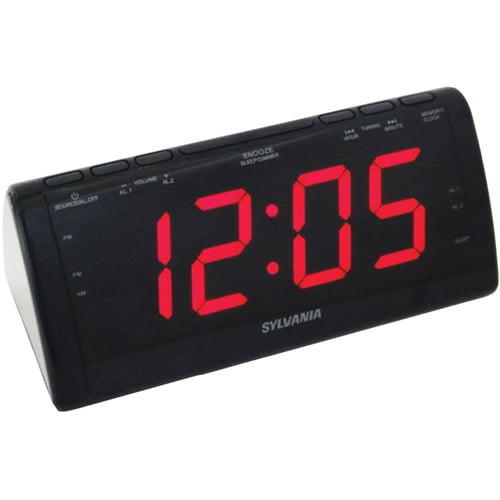 Sylvania SCR1206B Jumbo-Digit Clock Radio by Sylvania