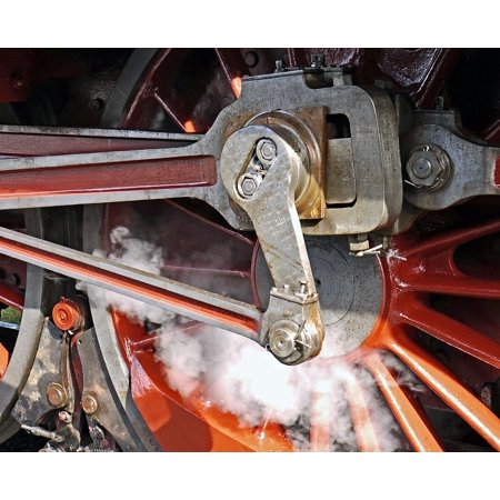Canvas Print Steam Locomotive Pivot Blowing Axis Personenzuglok Stretched Canvas 10 x 14