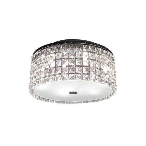 Bazz Lighting PL3413CC Glam Series Three-Light Flush Mount Ceiling Fixture, Fini by Bazz Lighting
