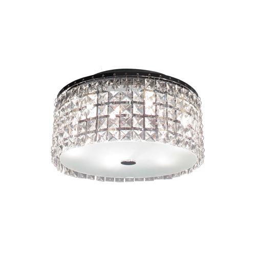 Bazz Lighting PL3413CC Glam Series Three-Light Flush Mount Ceiling Fixture, Fini by Bazz Lighting