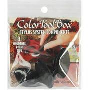 ColorToolBox Moldable Stylus Tips, Black Leaves, 3pk