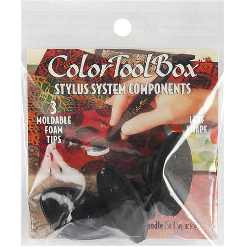 ColorToolBox Moldable Stylus Tips, Black Leaves, 3pk