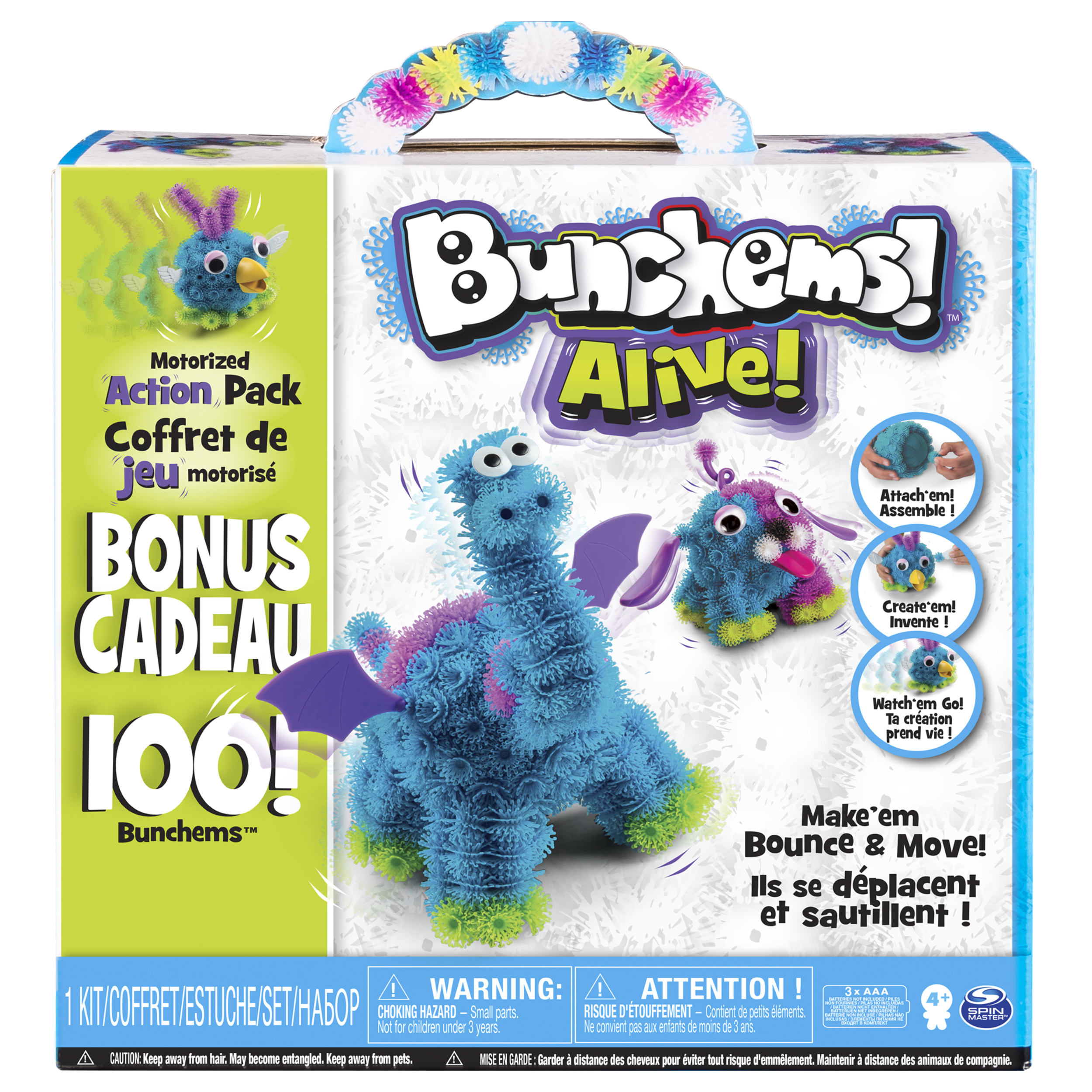 Bunchems Alive, Motorized Action Pack with 100 Bonus Bunchems, Walmart Exclusive, by Spin Master