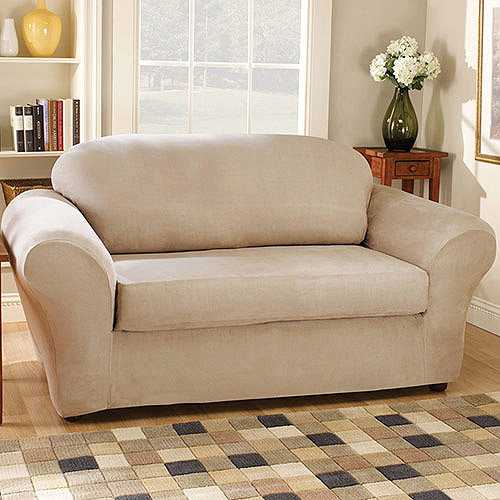 Sure Fit Suede Sofa Stretchable Slipcovers Walmart