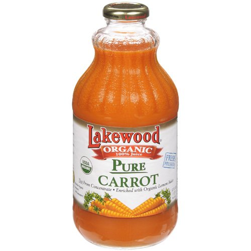 Lakewood Juice Carrot Pure Org 32 FO (Pack of 6)