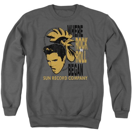 Sun Records Media Company Record Label Elvis And Rooster Adult Crew - Sun Paper Company