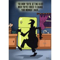 Oatmeal Studios Man Sneaking in Kitchen Funny / Humorous Masculine Birthday Card for Him / Man
