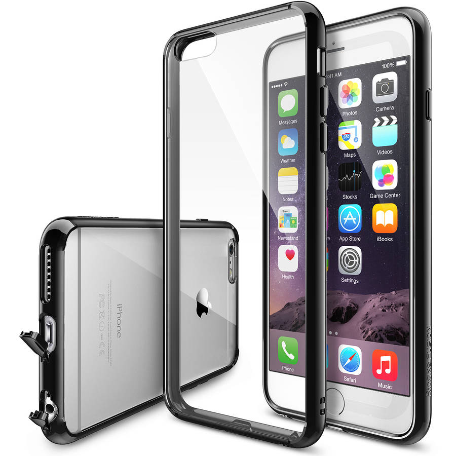 Ringke FUSION Case for Apple iPhone 6 Plus/ iPhone 6S Plus Premium Crystal-Clear PC-Back Shock-Absorption TPU Bumper Hard Case with Attached Dust Cap