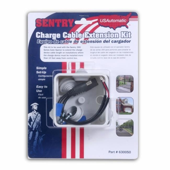 USAutomatic 630050 Sentry Charge Cable Extension Kit Senty Gate Openers When you need more cable than provided