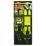Keeper 05522 Ratchet Tie Down, 1666 lb, 15 ft L x 1-3/4 in W