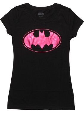 5f579ba8 Product Image Batman Batgirl Purple Foil Logo Juniors T-Shirt