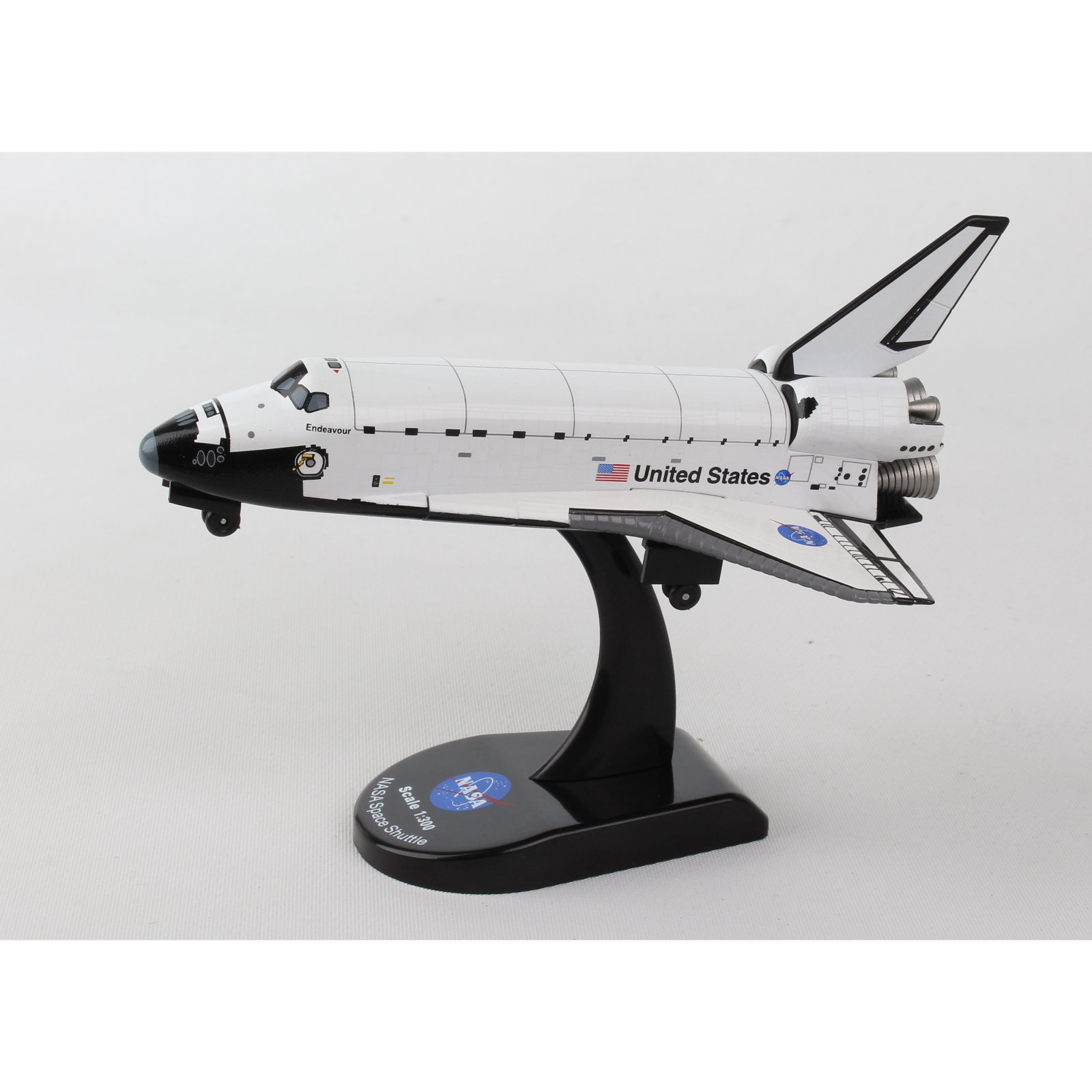 Postage Stamp Space Shuttle Discovery 1:300 Scale Model Plane