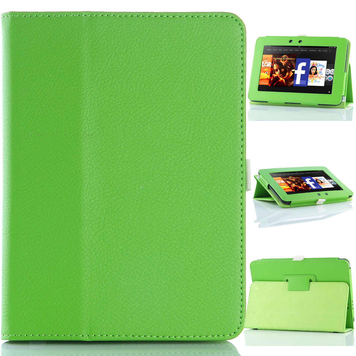 ULAK PU Leather Folio Stand Case Cover for Amazon Kindle Fire HD 7 Inch - 2012 Released
