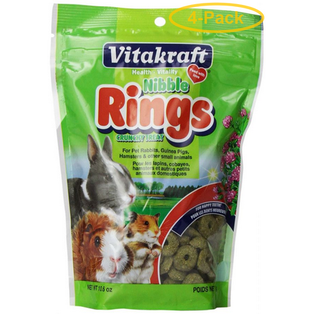 VitaKraft Nibble Rings for Small Animals 11 oz - Pack of 4