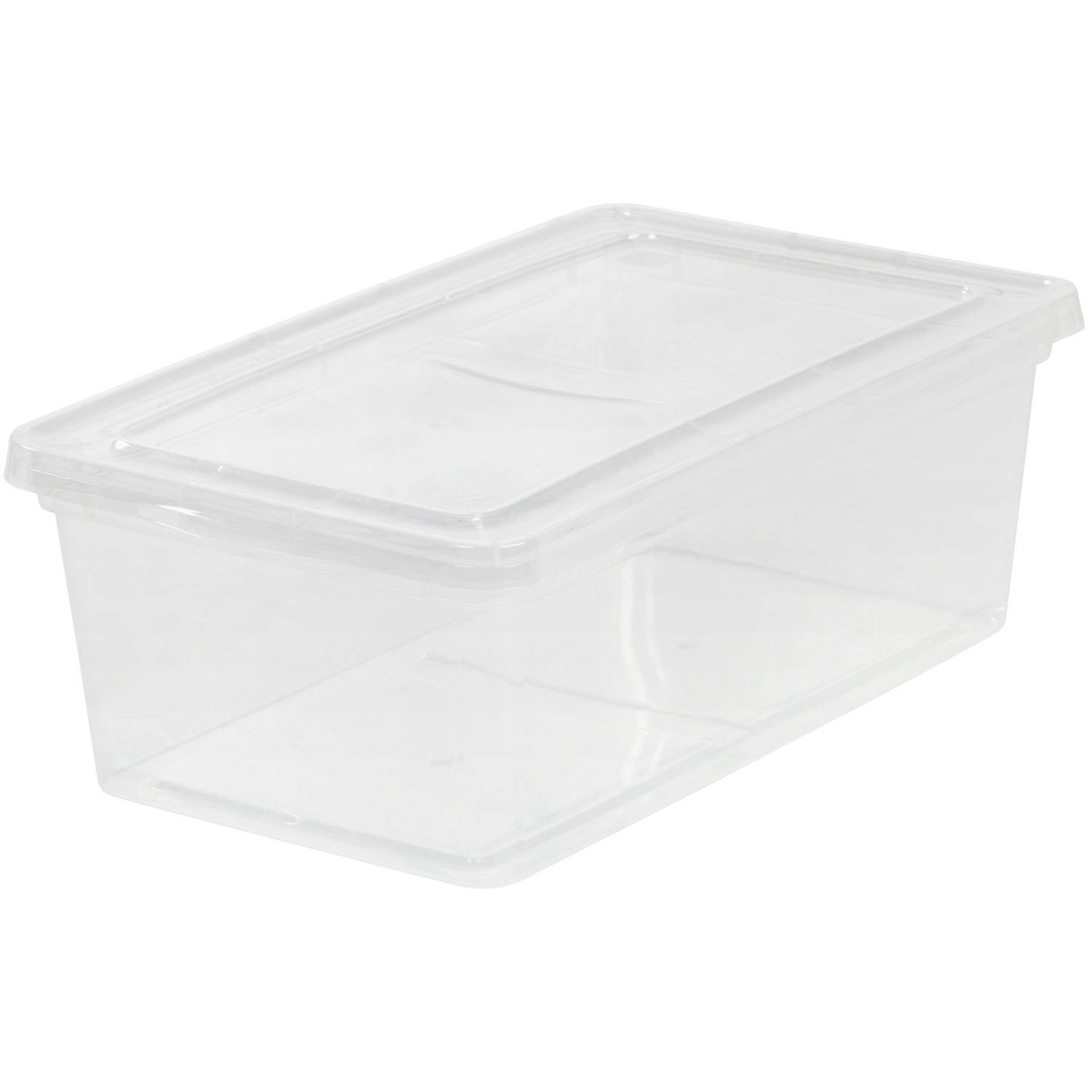 IRIS 6 Qt. Plastic Storage Box Clear  sc 1 st  Walmart : plastic photo storage box  - Aquiesqueretaro.Com