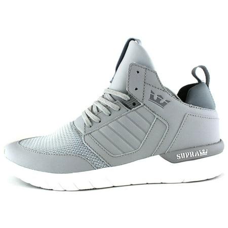 0b68c794dde Supra - Supra Men's Method Mid Top Leather Mesh Athletic Sneaker Shoes  Light Grey White 08022-013-M - Walmart.com