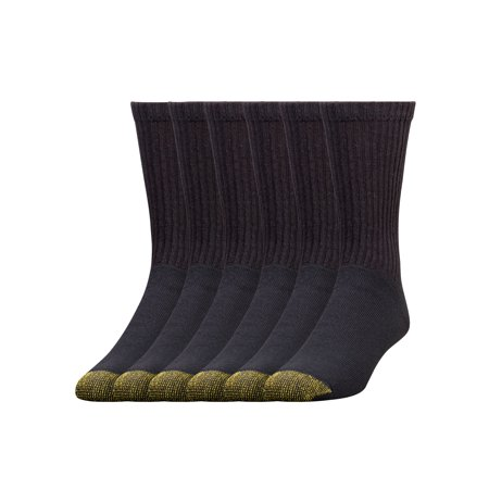 Gold Toe Men's Full Cushion Cotton Crew Socks, 6 Pairs