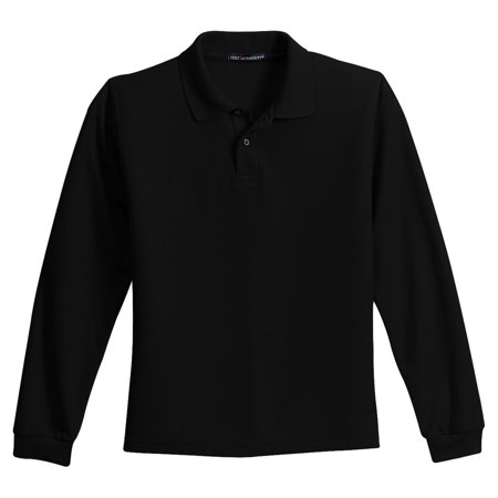 Port Authority Youth Silk Touch Long Sleeve Smooth Polo Shirt