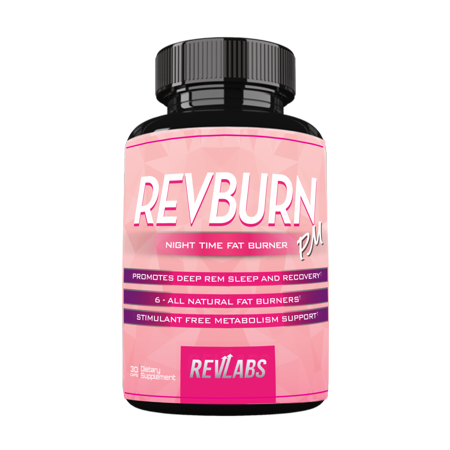 RevBurn PM for Her (With Chamomile) - Night Time Fat Burner by RevLabs - Promotes Deep Rem Sleep and Recovery- Stimulant Free Metabolism Support - 30