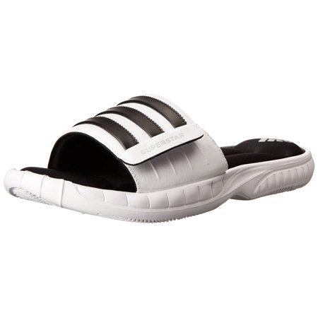 ... adidas Performance Men's Superstar 3G Slide Sandal,White/Black/Silver,10  M