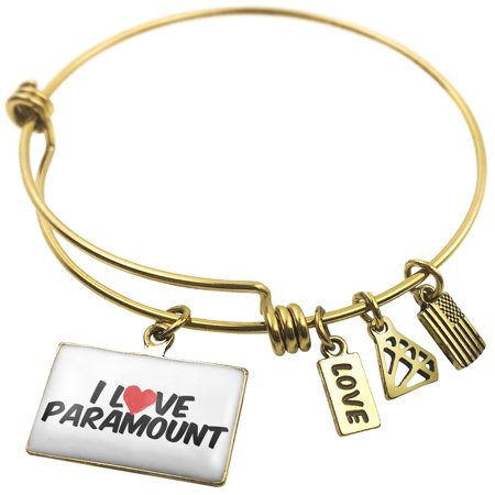 Expandable Wire Bangle Bracelet I Love Paramount   Neonblond
