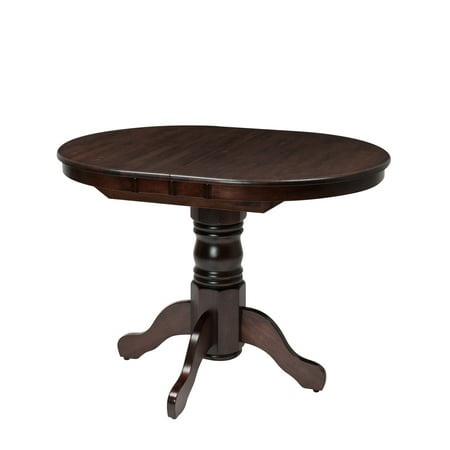 - CorLiving Dillon Extendable Cappuccino Stained Oval Pedestal Dining Table with 12in Butterfly Leaf