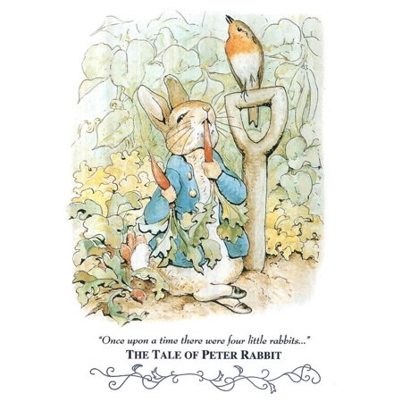 Beatrix Potter Tale Peter Rabbit Art Print POSTER cute Poster - 13x19 ()