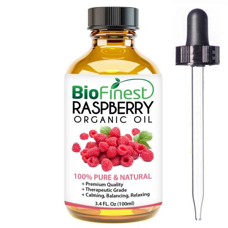 Biofinest Raspberry Seed Organic Oil   100  Pure Cold Pressed   Best Moisturizer For Hair  Face   Skin   Essential Omega 6  Antioxidant  Vitamin A   E   Free E Book   Dropper  100Ml