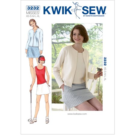 Kwik Sew Pattern Skort Top And Cardigan Xs S M L Xl