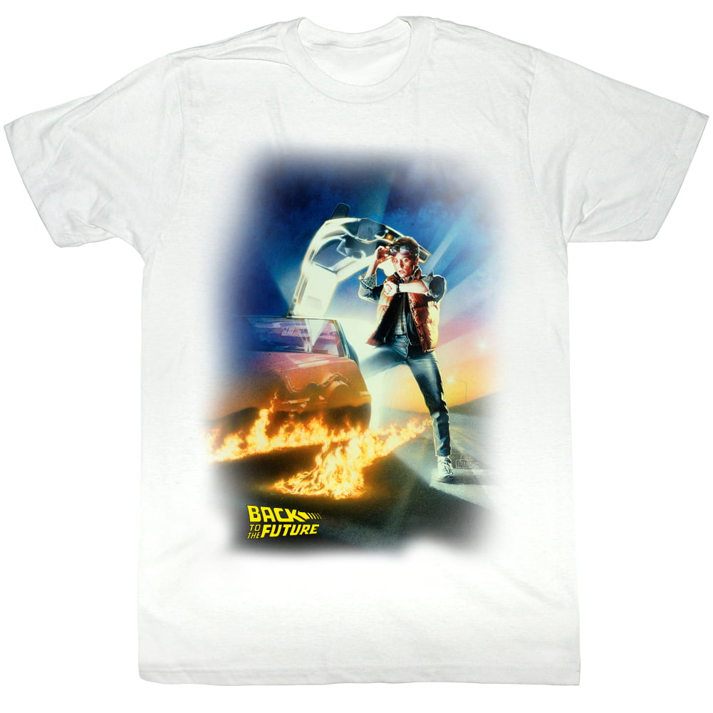 1a82234e3 Back To The Future Movie Btf Poster White Adult T-Shirt Tee ...