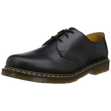 Dr Martens Tennis Shoes (Dr. Martens Men's 1461 3 Eye Shoe,Black Nappa,8 UK/9 M)
