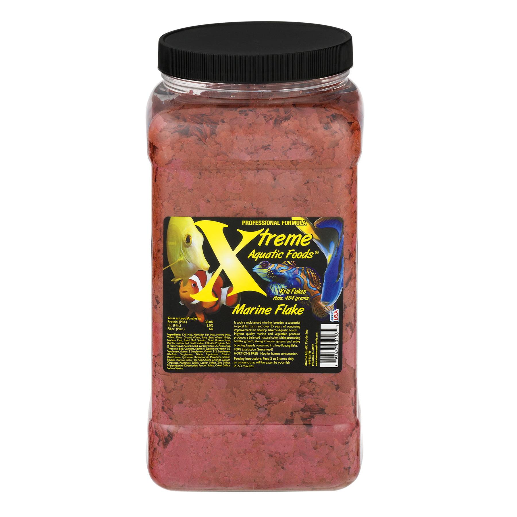 Xtreme Aquatic Marine Krill/Shrimp Crav Flakes Fish Food, 16 oz