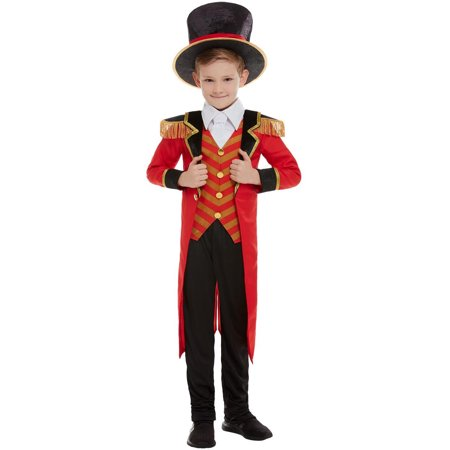 Male Carnival Costumes (Boy's Vintage Circus Carnival Ringmaster Deluxe)