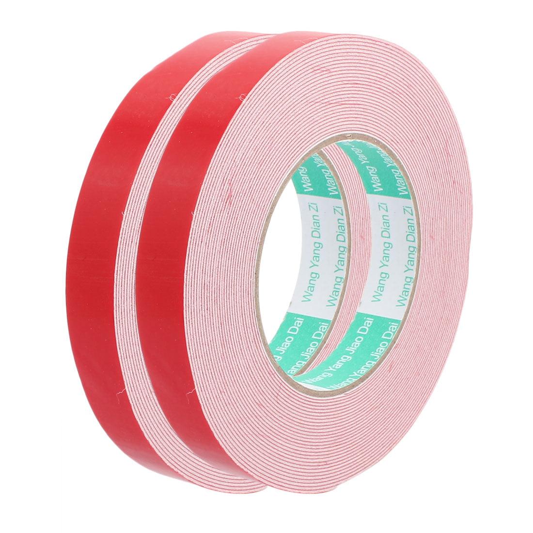 2pcs 10M 20mm x 1mm Dual-side Adhesive Shockproof Sponge EVA Tape Red White