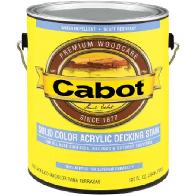 Cabot Samuel 1801-05 QT, White Base, 100 Percent Acrylic, Solid Color Decking Stain