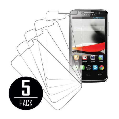 Alcatel OneTouch Evolve, Screen Protectors, 5-Pack, Clear