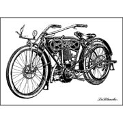 "LaBlanche Silicone Stamp 4""X3""-Motorcycle"