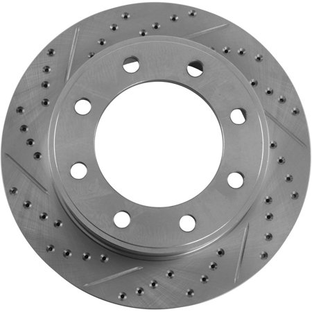 JEGS Performance Products 632312 HP Drilled & Slotted Brake Rotor 1999-2005