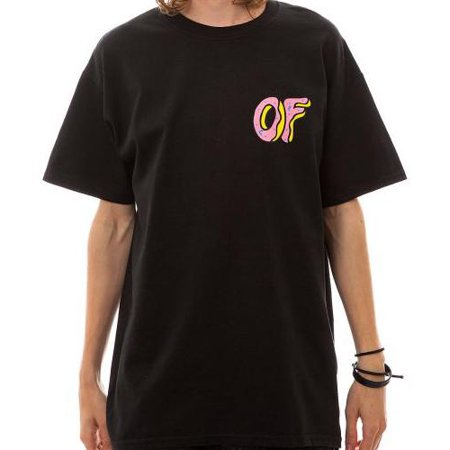 Odd Future Donut Front & Back Logo Tee Mens Black T-Shirt ()