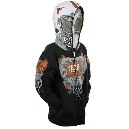 NCAA College Youth Boys Texas Longhorns Full Zip Masked Sweatshirt Hoodie