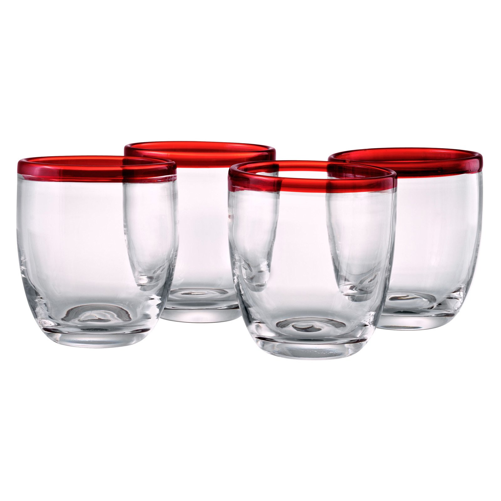 Artland Inc. Festival Scarlet DOF Glasses - Set of 4